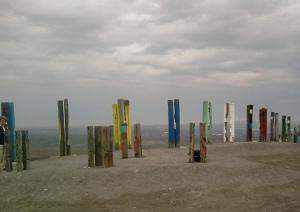 Totem-Kunstwerke auf der Halde Haniel