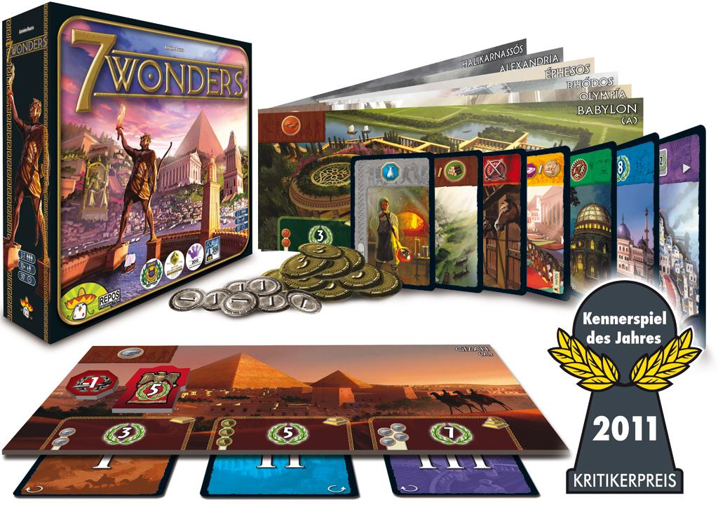 7 Wonders Box, Bretter und Karten
