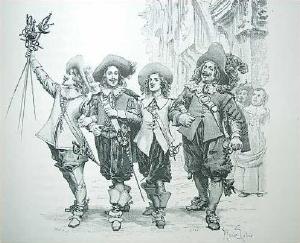 Die drei Musketiere und D'artagnan