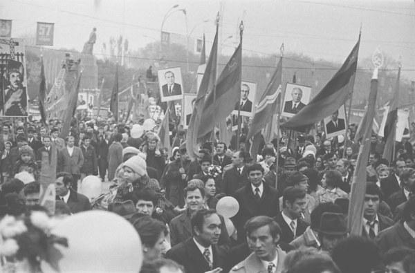 Demonstration in den Achtzigern in der UDSSR