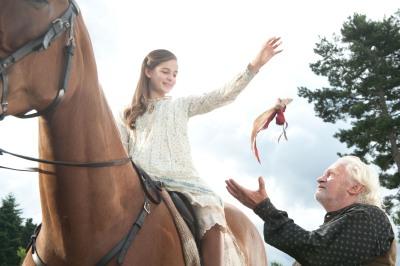 Das Pferd Joey aus Gefährten wird von Celine Buckens als Emilie geritten