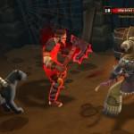 Derselbe Torchlight2-Charakter kämpft gegen einen rot leuchtenden Banditen