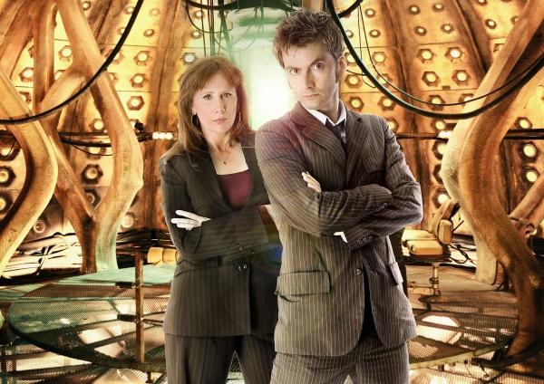 David Tennant und Catherine Tate in ihren Rollen als Donna Noble und Doctor