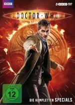 Cover der DVD-Box, David Tennant in Anzug und braunem Mantel als Doctor Who