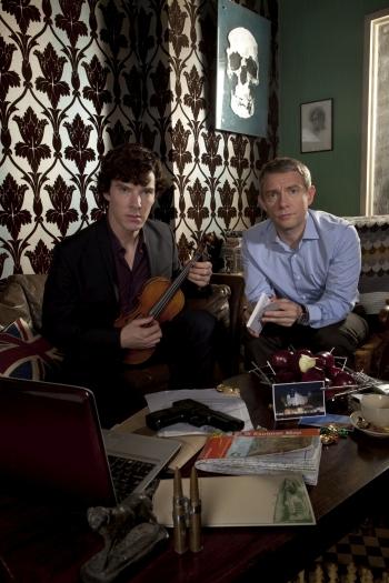 Benedict Cumberbatch als Homes und Martin Freeman als Watson