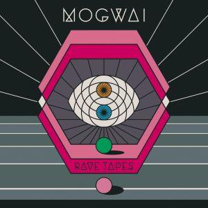 Das Cover von  Rave Tapes - Rosa Sechsecke mit Augensymbolen in der Mitte.