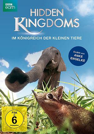 Cover von Hidden Kingdoms. Ein riesiger Elefantenrüssel hängt von oben ins Bild, unter ist eine Elefantenrüsselmaus zu sehen.