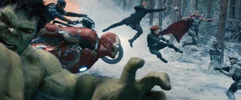 Die Avengers im Schnee.