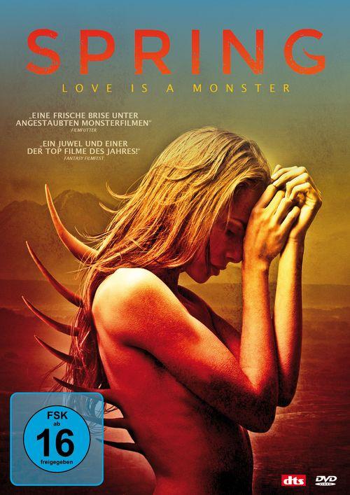 DVD-Cover von Spring Love is a Monster: Eine junge Frau, aus deren Rücken Stacheln wachsen.