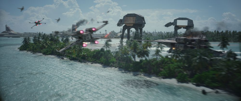Rogue One: A Star Wars Story..X-Wing and U-Wing versus AT-ACTs