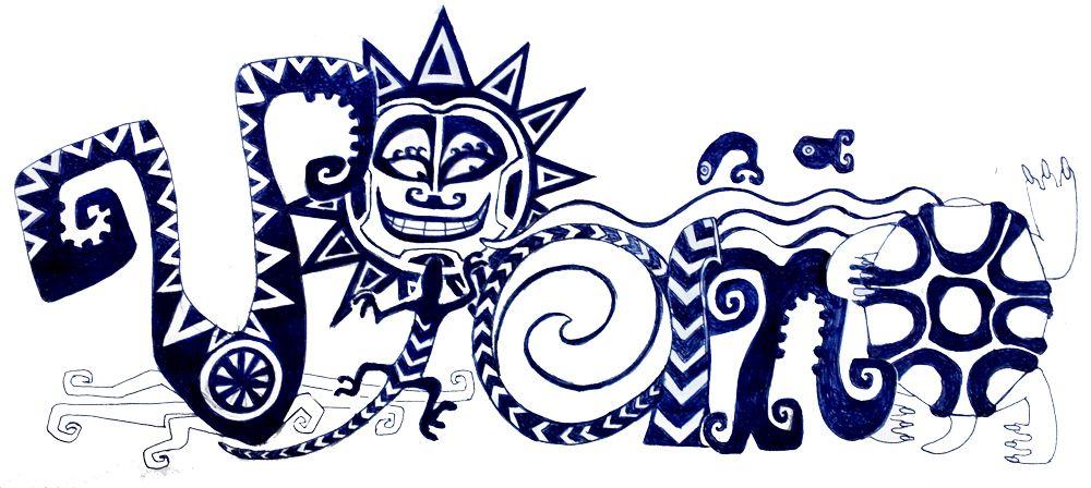 Der Schriftzug Vaiana in polynesisch anmutender Illustration