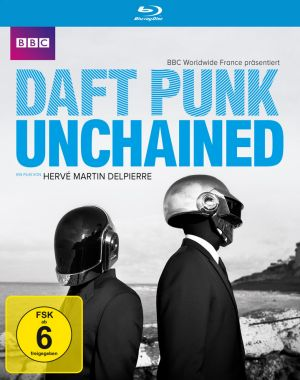 Cover von Daft Punk unchained: Zwei Roboter am Meer.