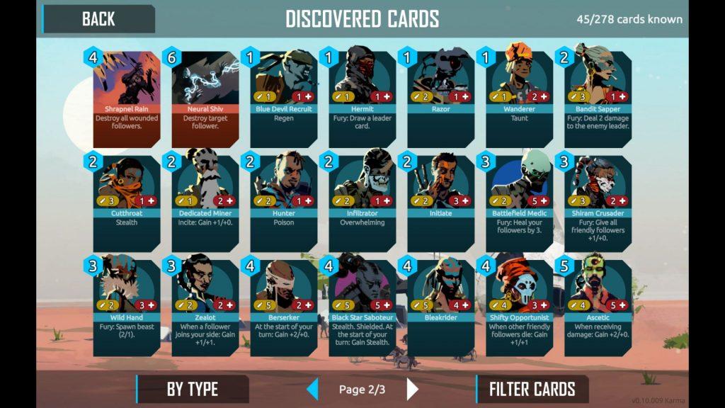 21 Karten aus Nowhere Prophet