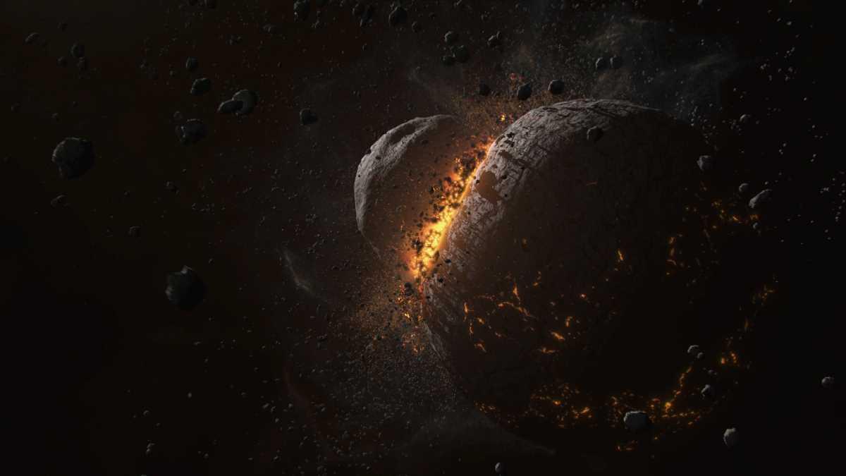 Ein Planet entsteht. Aus: Die Planeten Doppel-DVD, foto: BBC Earth